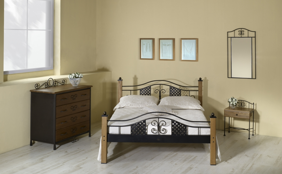lit elba lits romantiques iron art. Black Bedroom Furniture Sets. Home Design Ideas