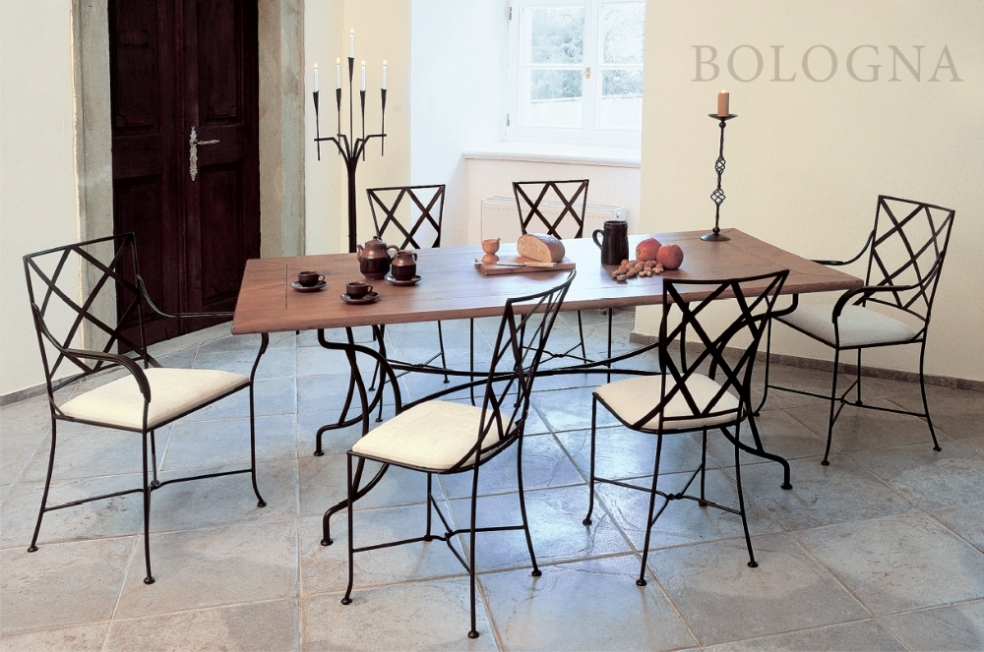 Tables et chaises en fer forg meubles en fer forg iron art lits chai - Table a manger fer forge ...
