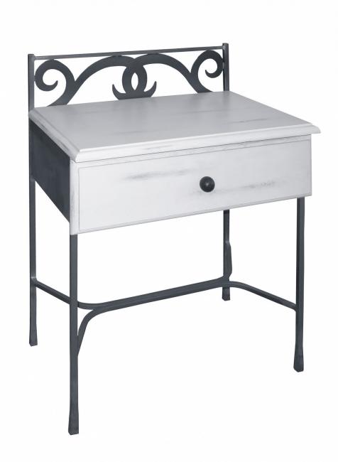 Table de nuit granada bois lits romantiques iron art - Table de nuit romantique ...
