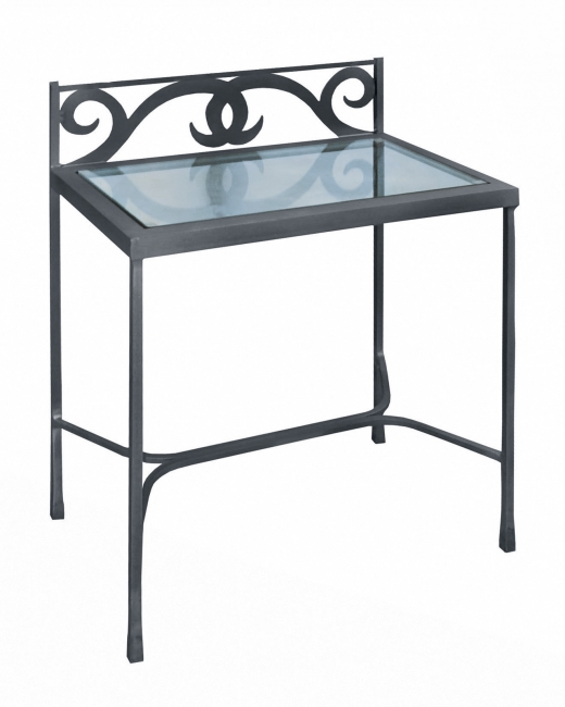 Table de nuit granada verre lits romantiques iron art for Table de nuit romantique