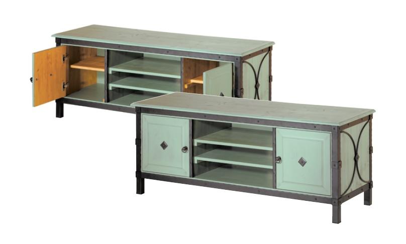 meuble tv bois et fer forge – Artzeincom -> Modèle Des Tables Pour Télévision Plasma En Fer Forgé
