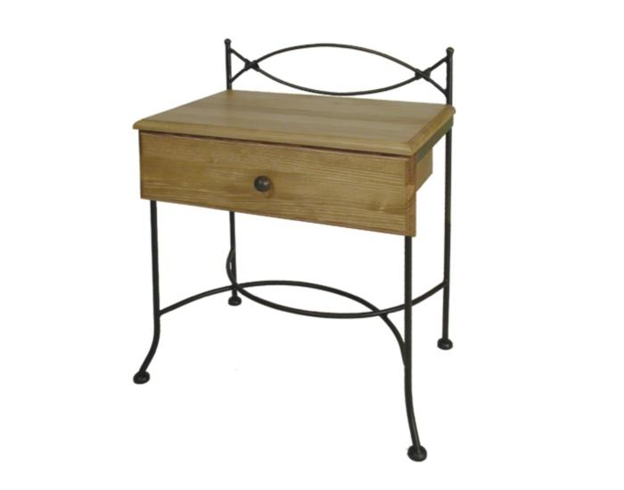 Table de nuit tholen bois lits romantiques iron art - Table de nuit fer forge ...