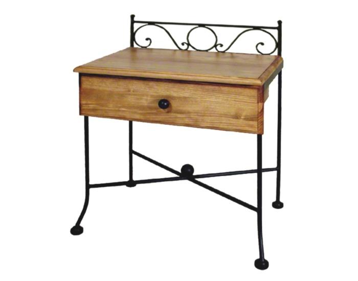Table de nuit romantic bois lits romantiques iron art for Table de nuit romantique