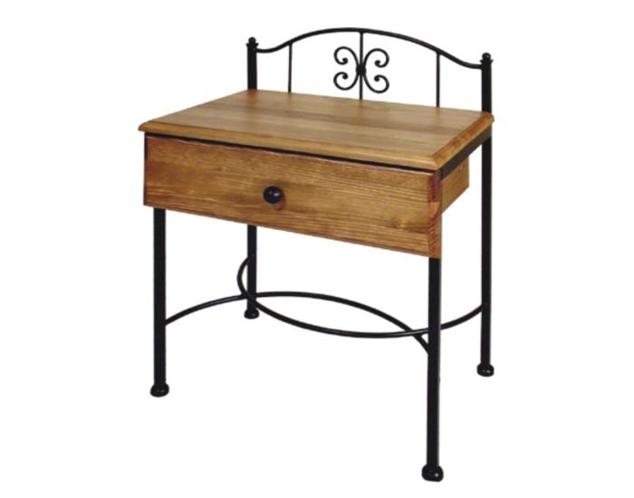 Table de nuit elba lits romantiques iron art for Table de nuit romantique