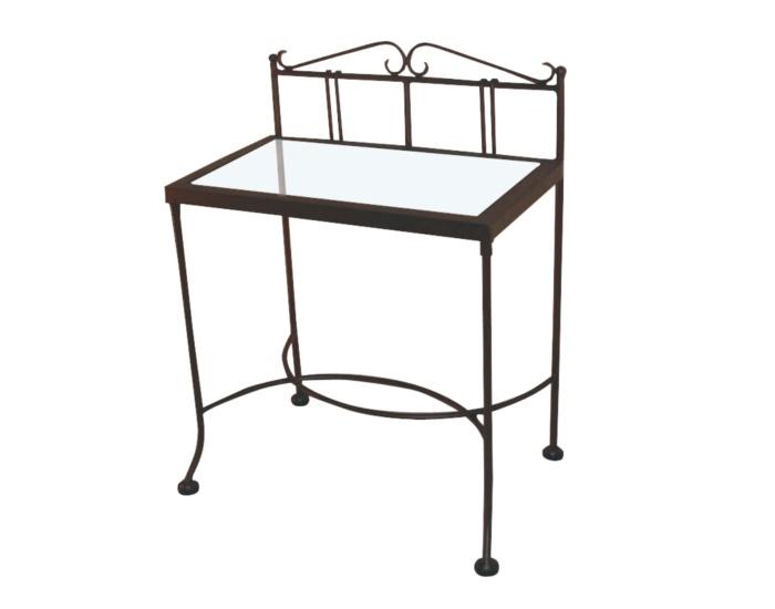 Table de nuit sardegna verre lits romantiques iron art - Table de nuit romantique ...