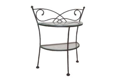 Table de nuit andalusia lits romantiques iron art - Table de nuit fer forge ...