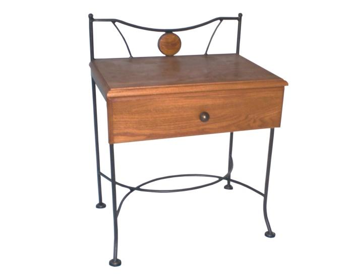 Table de nuit stromboli lits romantiques iron art for Table de nuit romantique