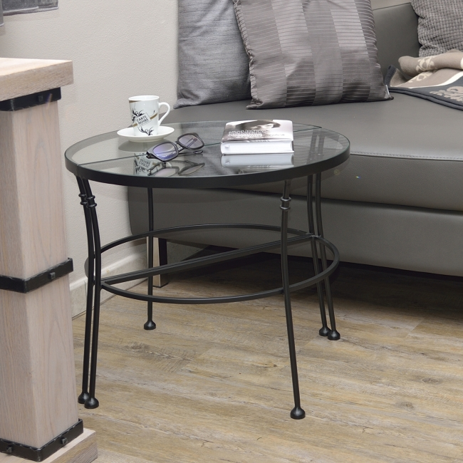 table basse demilune andalusia  lits romantiques ironart