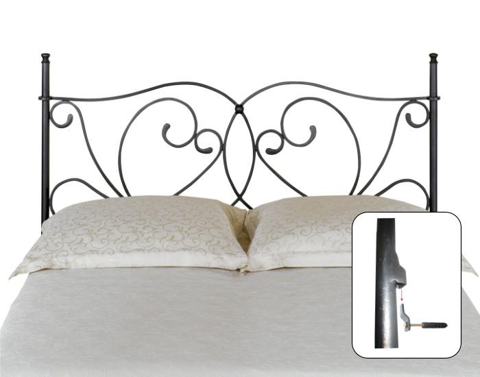 T te de lit galicia lits romantiques iron art - Tete de lit fer forge blanc ...