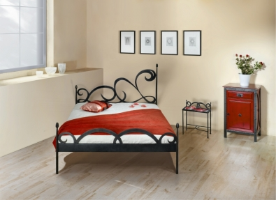 lits romantiques meubles en fer forg iron art lits. Black Bedroom Furniture Sets. Home Design Ideas
