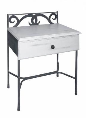 Table de nuit granada bois lits romantiques iron art for Table de nuit romantique