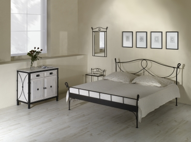 lit modena lits romantiques iron art. Black Bedroom Furniture Sets. Home Design Ideas