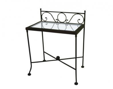 Table de nuit romantic verre lits romantiques iron art - Table de nuit romantique ...