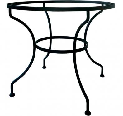 Table à manger ronde en fer et chene